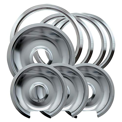 Drip Pan Ring (Range Kleen 1056RGE8Z GE Hinged Drip Pans and Trim Rings Containing 3 Units 105A, R6GE and 1 Unit 106A,R8GE, Chrome by Range Kleen)