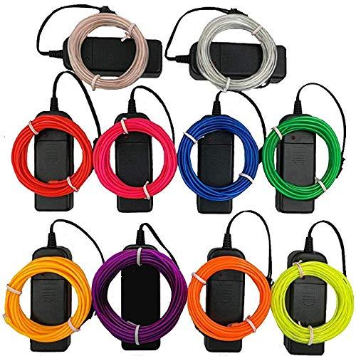 Cable de neón flexible de 1 m para iluminación interior, LED, tira de tubo de cuerda de neón, luz decorativa, neón