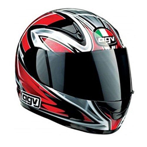 Casque intégral moto scooter taille xS 5354cm Rouge homologué e-2205modèle AGV GP-1