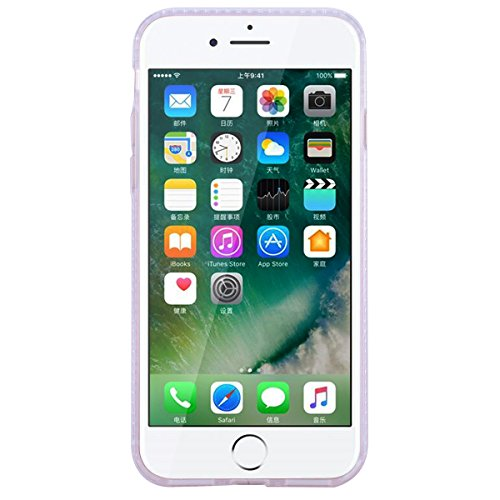 WE LOVE CASE Coque iPhone 7/iPhone 8, Coque de Protection Liquide Fluide Sables Brillante en Hard PC Dur Coque iPhone 7 Paillette Motif Glitter Anti Choc Bumper, Antichoc Rigide Resistante Coque Apple Rose