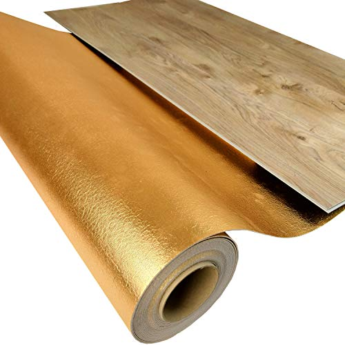 """10 m² Vinyl Trittschalldämmung """"uficell VinoSmart"""" - 1,5 mm Starke Unterlage für Voll Vinylböden und LVT-Böden ohne Trägerplatte - Tritt & Gehschalldämmung mit Anti-Slip-Effekt für die sichere Verlegung von Vollvinylböden mit Klicksystem mit einer Stärke von ca. 4-5 mm - Dichte ca. 100 kg/m³ - Druckstabilität: 200 kpA - (10 m² Rolle)"""