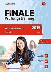 Finale Prüfungstraining Realschulabschluss Hessen: Deutsch 2019 Arbeitsbuch Mit Lösungsheft