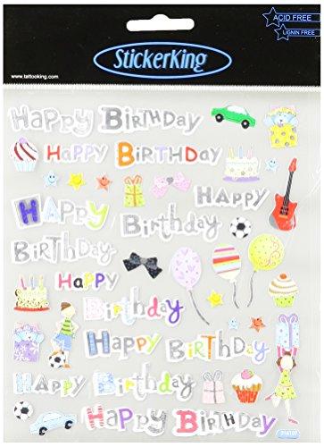 Multi Colored Stickers Happy Birthday