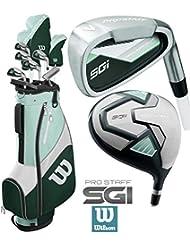 The Golf Store 4u Ltd Wilson ProSTAFF SGi 2019 Golfset für Damen, inkl. Deluxe-Golftasche