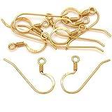 Raro Arte 14K chapado en oro pendientes de alambre francés ganchos (10)