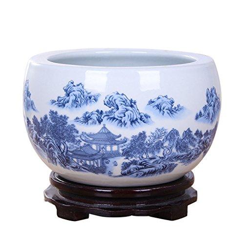 Unbekannt BOBE Shop Chinesische Art keramischer Blumen-Topf kein Behälter/Wasserkultur-saftiger Blumentopf/Hauptinnentischplatten-Dekorations-Behälter (größe : M) -