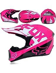 CFYBAO Moto Fuera de Carretera Casco Regalo Gafas máscara Guantes Motocross Racing Casco Completo de la Cara para el Hombre y la Mujer,H,S