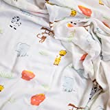 Kids Rule Premium Quality Super Soft Baby Bamboo Muslin Swaddle Comfort Blanket