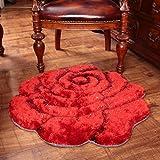 Edge to Teppiche und Decken 3D Beschneiden Rosen Dicker Teppich Schlafzimmer Bettvorleger Computer Stuhl Teppich (Farbe : A, Größe : 70 * 140CM)