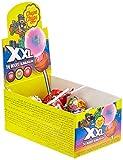 Chupa Chups XXL Kaugummi-Lutscher, 25 Lollis im Karton, Geschmack Erdbeere + Apfel + Cola