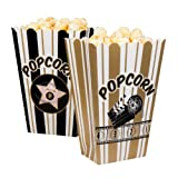 PARTY DISCOUNT NEU Popcorn Tüte, 4 Stück sortiert