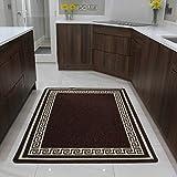 Läufer Küche Hauswirtschaft Matte | Günstige Fußmatte| Braun - 8 Größen verfügbar