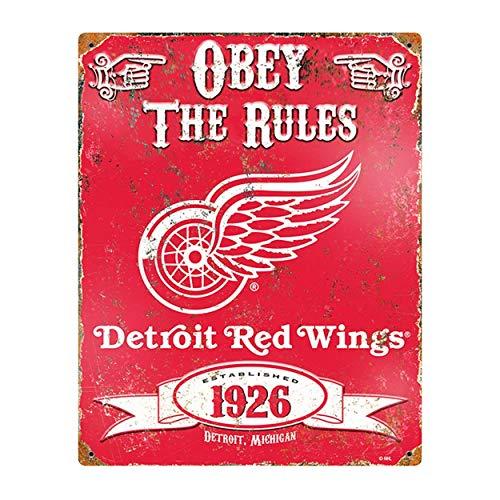 Kia Haop Detroit Red Wings Metall Blechschild Garage Cafe Garten Wohnzimmer Küche Plaque Art Poster Metallschild Wand Dekoration