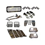 Profi Polished Stainless Steel Package / full doors + new style hood catch kits