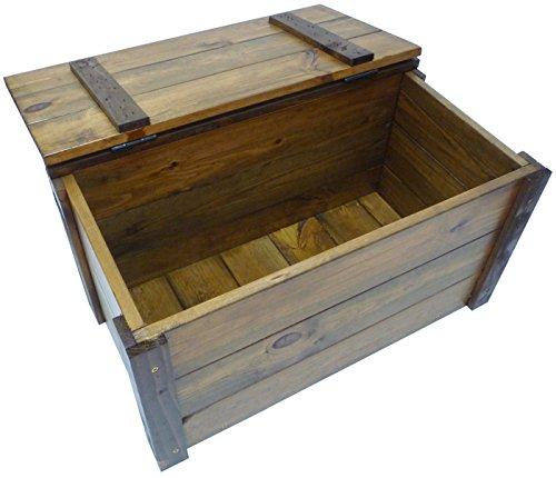 Baule legno noce marrone panchetta contenitore cassapanca for Cassapanca portalegna