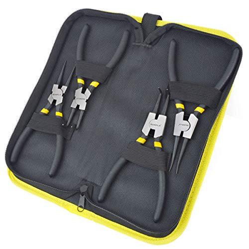 GUNPLA Sicherungsring Zange Set, Bluetooth, Interne, 4externe gerade Bent Sicherungsring Sprengring Zangen-Set