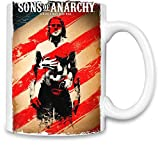 World Designz Hijos de la Anarquía - Sons of Anarchy Unique Coffee Mug | 11Oz Ceramic Cup| The Best Way To Surprise Everyone On Your Special Day| Custom Mugs by