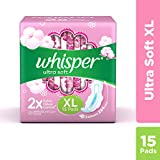 Whisper Ultra Soft Sanitary Pads - 15 Pieces (XL)