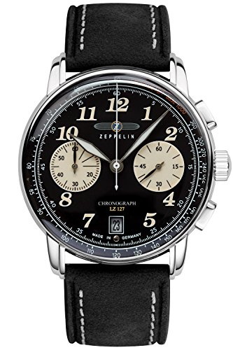 Zeppelin Mens Watch Chronograph LZ127 Graf Zeppelin 8674-3