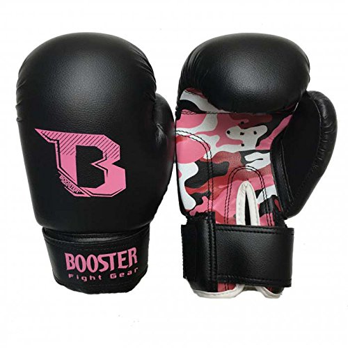 Booster Boxhandschuhe, BT-Kids, camo-pink, Kinder Boxing Gloves, MMA, Muay Thai Size 4 Oz