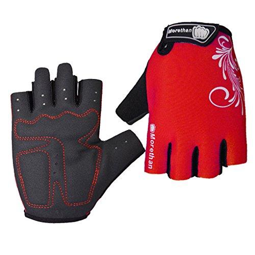 Aeroty 1 par de hombre de verano bicicleta de verano de la bicicleta medios dedos guantes Absorb Shock guantes de ciclismo