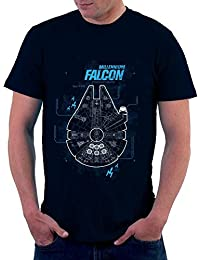 The Souled Store Star Wars Millennium Falcon Movies Printed Premium BLACK Cotton T-shirt for Men Women and Girls