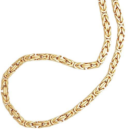 Feine Silberkette Byzantiner Königskette Halskette Kette Collier Armband Fußkette 925 Silber Sterling 14K Goldkette Gold Kette vergoldet 2mm - 15 20 25 30 35 40 45 50 55 60 65 70 75 80 85 90 95 100cm (22-zoll-gold-chain -)