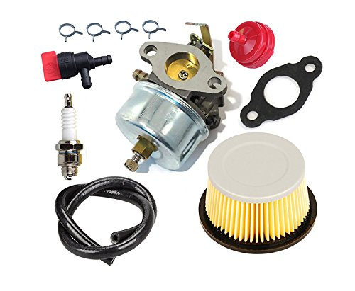 Auto-shut-off-kit (OxoxO 632230 632272 Carburetor carb Kit With 30707 Air Filter 90-Degree Fuel Shut Off Valve Fuel Line for Tecumseh H30 H50 H60 HH60 Engines)
