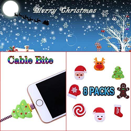 TAOtTAO 2/8 pcs Weihnachten Kabel beißen alle Kabel Schnur Tier Telefon Zubehör schützt niedlich (8 pcs, G)