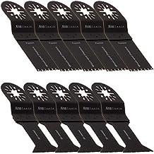 10 Bosch Multifunzione Lama per Sega FEIN MultiMaster Doppio Set (2e) per Legno e Metallo Einhell Erbauer Makita Milwaukee Workzone WORX Sonicrafter di KROP