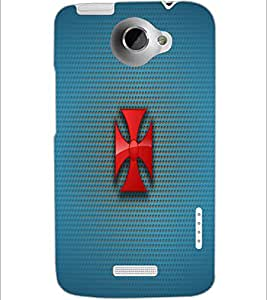 PrintDhaba Cross D-1777 Back Case Cover for HTC ONE X (Multi-Coloured)