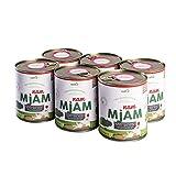 naftie veganes Bio Hundefutter NAM MJAM 6x800g Dosen Nassfutter Menü aus Buchweizen mit Linsen & Zucchini, Apfel, Karotte glutenfrei nass feucht vegetarisch (6 x 800g)