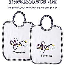 Asciugamani E Bavaglini Personalizzati.Amazon It Set Asilo Con Nome