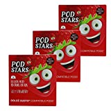 Cafféluxe Pod Stars Silly Strawberry für Kinder, Erdbeer Milchshake, Dolce Gusto Kompatibel, 30 Kapseln