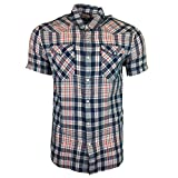 Levi's S/s Barstow Western Shirt Camicia, Multicolore (Udu Dress Blues), Large Uomo