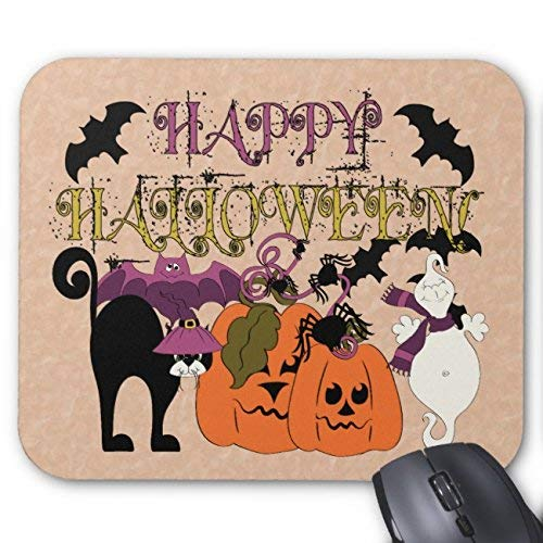 ppy Halloween Mouse Pad Rectangle Non-Slip Rubber Personalized Mousepad Gaming Mouse Pads ()
