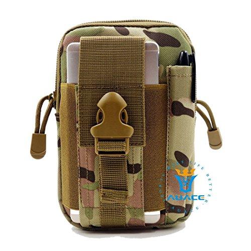 Multifunktions Survival Gear Tactical Beutel MOLLE Beutel Armee Handytasche, Outdoor Camping Tragbare Tasche Handtaschen Taille Tasche Werkzeugtasche Travel Handytasche CP
