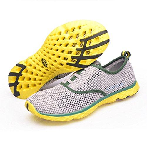 Men's Sapatos Respiravel Corrida Esportivos Homens Running Shoes Gray green