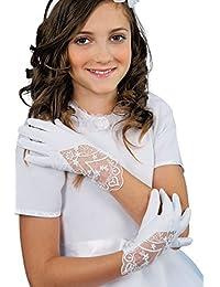 MGT-Shop Mädchen Kommunionshandschuhe Kommunionhandschuhe Blumenkinderhandschuhe U81