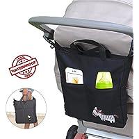 Aolvo Organizador para cochecito de bebé, organizador de pañales para colgar, gran capacidad, impermeable, bolsa de viaje para bebé, paraguas/botellas/lotes/almohadilla para hombres y mujeres