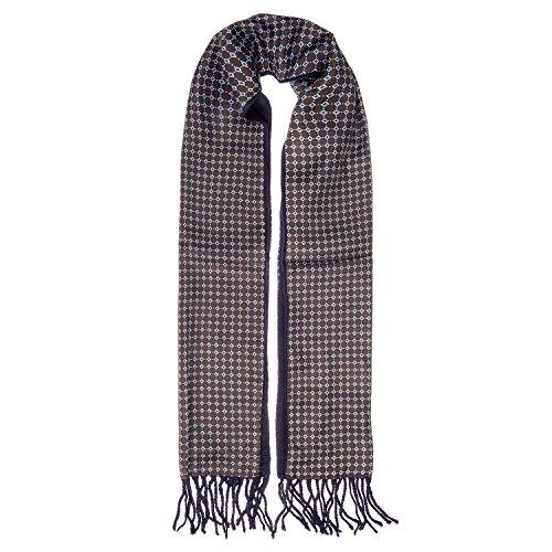 Eleganter Double Face Schal, Business Schal in verschiedenen Variationen, 27 x 138 cm, Farbe:Braun