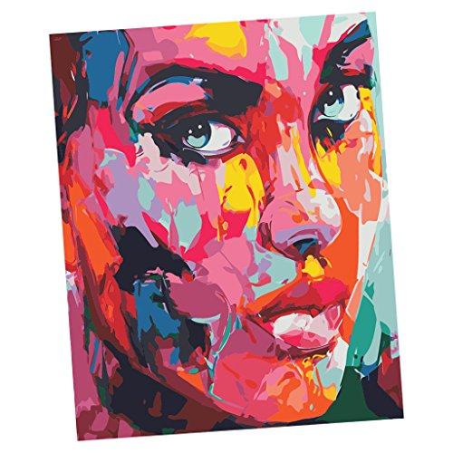 Preisvergleich Produktbild Sharplace DIY Malen Nach Zahlen Kits DIY Ölfarbe Ölgemälde Malen nach Zahlen Wanddekoration Malerei Farbe durch Zahl Rahmenlos - 4