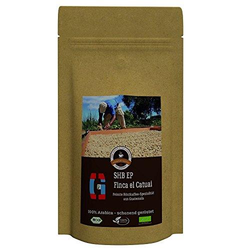 Kaffee Globetrotter - Guatemala SHB EP Finca El Catuai - Bio - 1000 g Mittel Gemahlen - für...