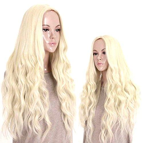 J.Causd Dame Perücke 65CM Qualitativ Hochwertige Lang Synthetische Haar Perücken Frauen Perücke Für Cosplay / Karneval / Party (Daenerys Targaryen)