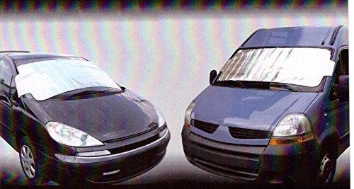 """SCHEIBENABDECKUNG """"MAXI"""" für Busse Sonnen - und Frostschutz für Ihr Auto. Universelle Frontscheibenabdeckung für BUSSE, SUV und VANS - Größe 150 x 100 cm"""