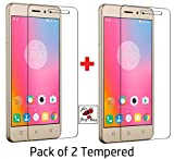 Shop Buzz Pack Of 2 Tempered Glass Screen Guard For Lenovo K6 Power (With Camera And Sensor Cut) For Lenovo Vibe K6 Power - Amazon