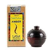 Lasa Aromatics Ambra naturale, profumo di corpo, muschio solido in barattolo di legno - 6 g