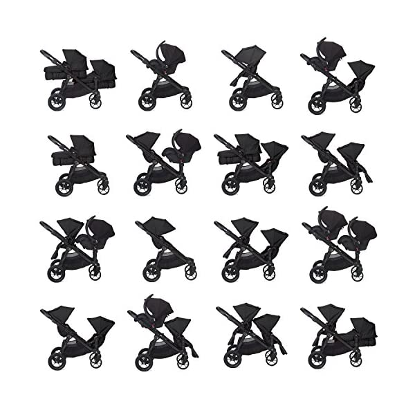 Baby Jogger City Select Single Stroller Black  From 6 months -15 kg Patented Quick-Fold Technology- fold your stroller in one step 16 possible seating combinations (with double conversion kit sold separately) 6
