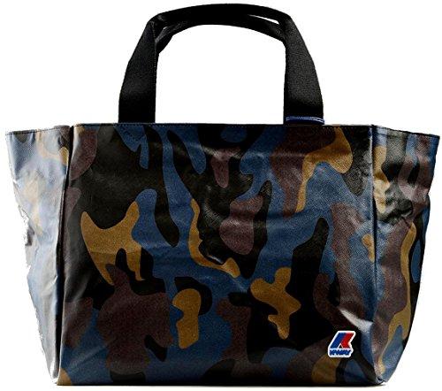 Borsa Shopping Donna K-Way K-Camouflage E/W Shopper K1A02-Blu
