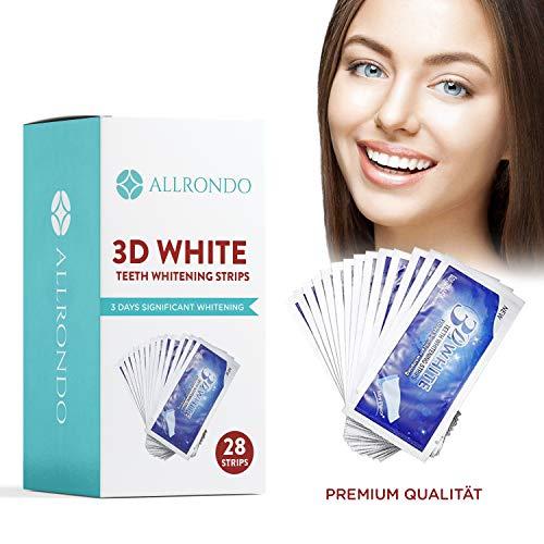 ALLRONDO Zahnaufhellungsstreifen - verbesserte Version - 28 Stück Bleaching Stripes - professionelle Zahnaufhellung - Zahnaufhellung Strips